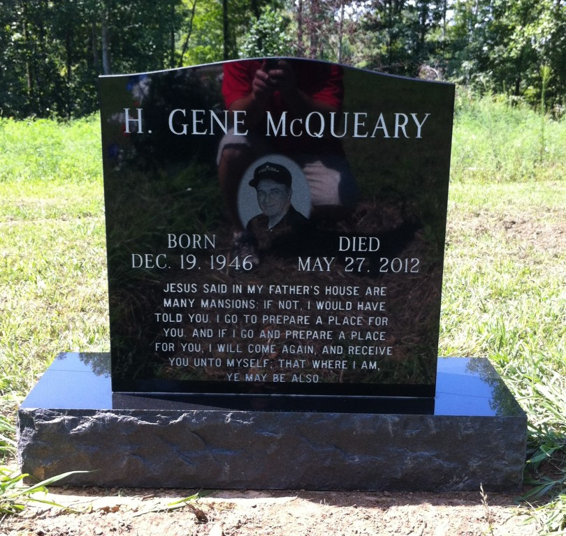 Headstone for Gene McQueary