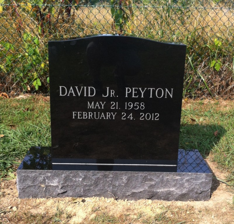 Headstone for David Peyton, Jr.
