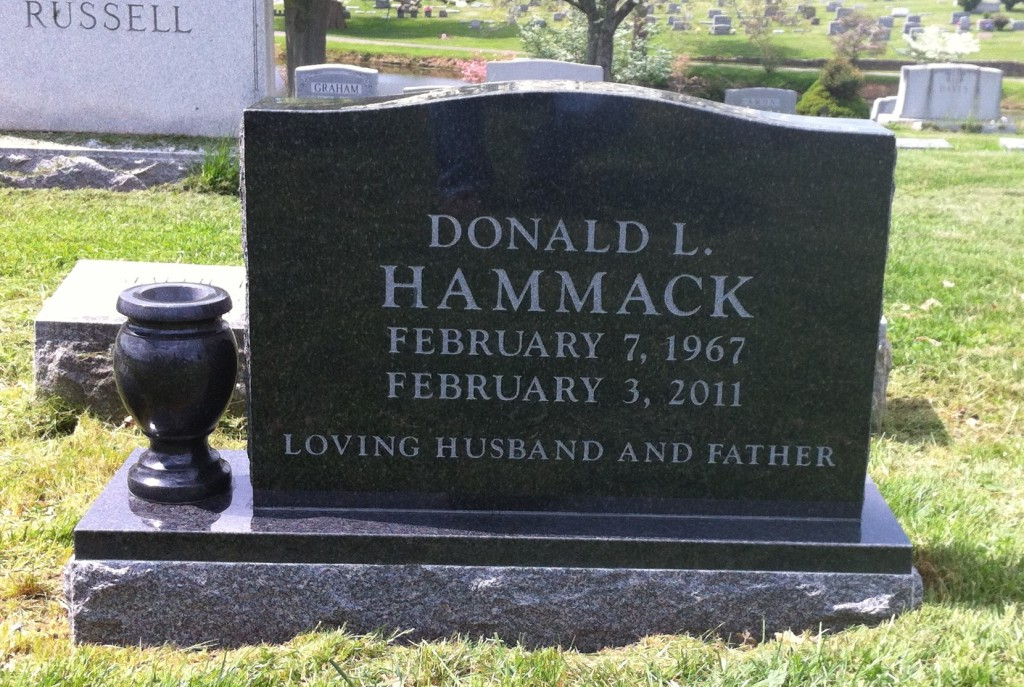 Headstone for Donald L. Hammack