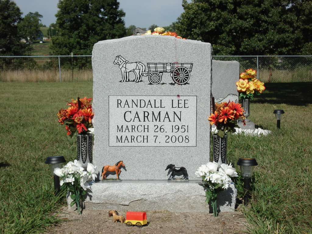 Headstone for Randall Carman