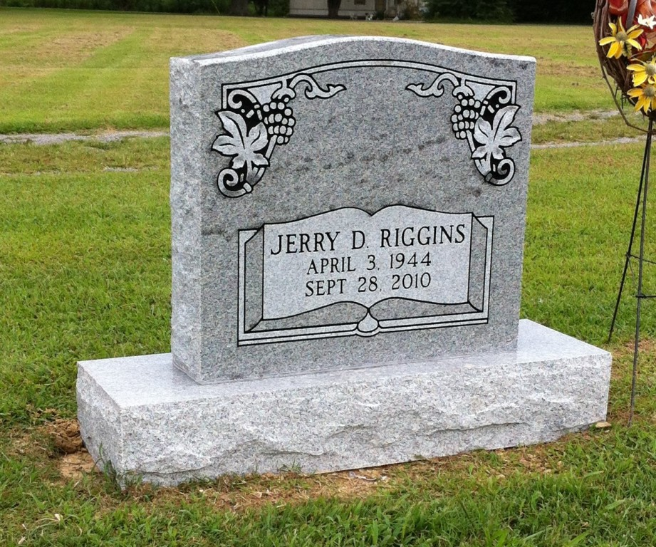 Headstone for Jerry Riggins