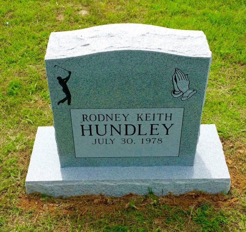 Headstone for Rodney Hundley