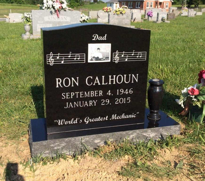Headstone for Ron Calhoun
