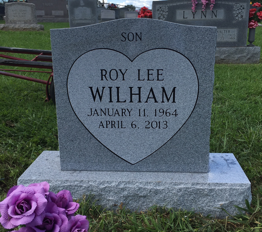 Headstone for Roy Lee Wilham