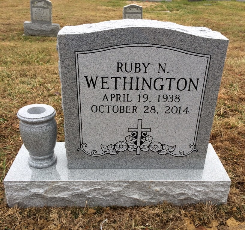 Headstone for Ruby N. Wethington