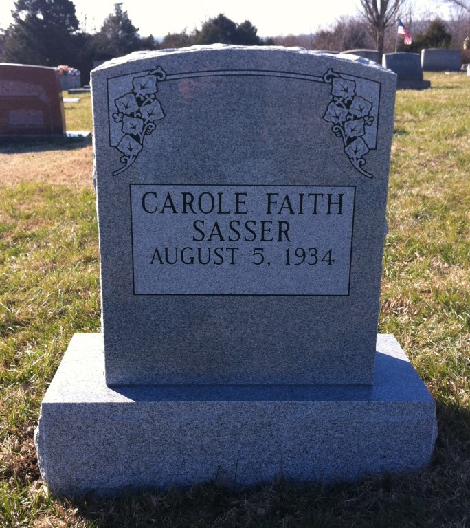 Headstone for Carole Faith Sasser