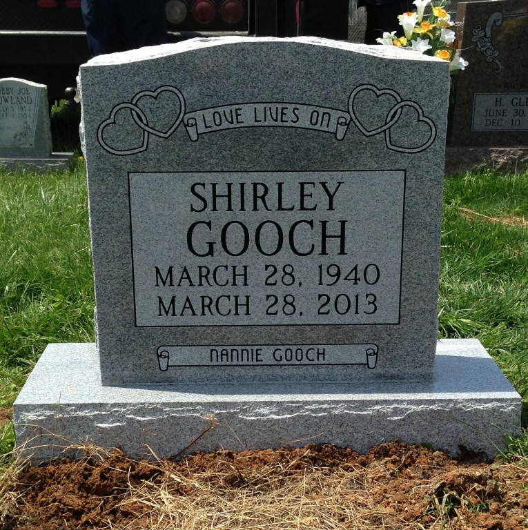 Headstone for Shirley Gooch