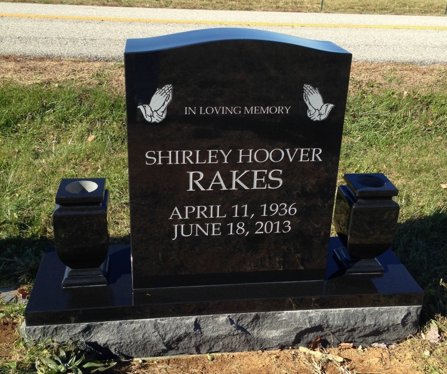 Headstone for Shirley Hoover Rakes