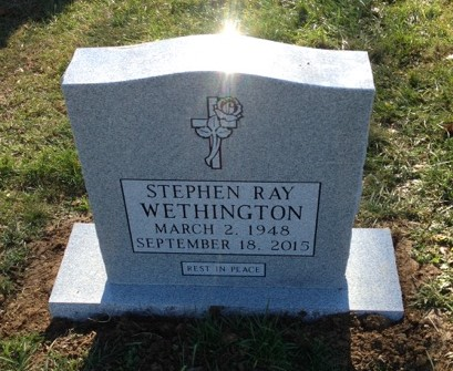 Headstone for Stephen Ray Wethington