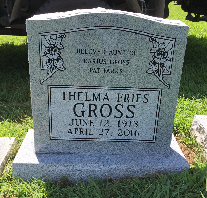 Headstone for Thelma Fries Gross