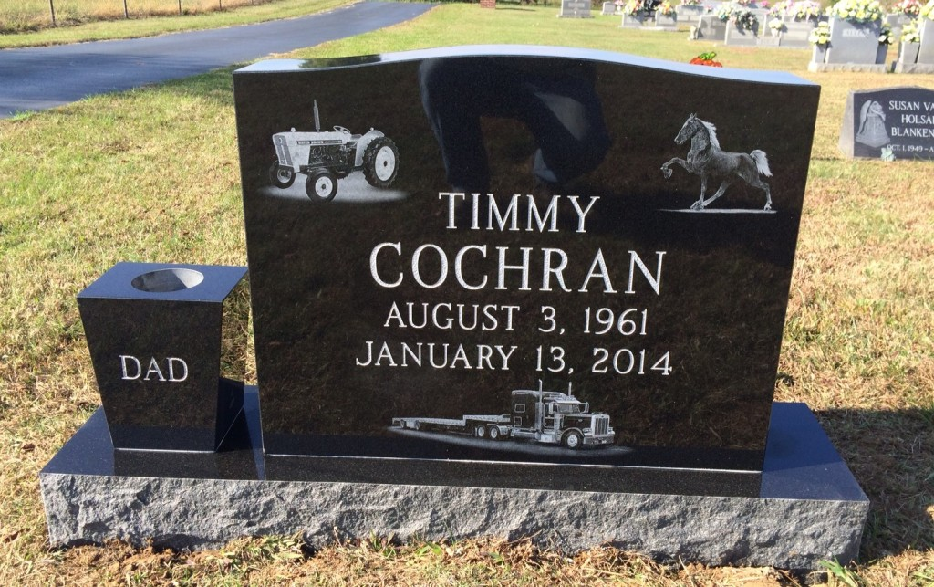 Headstone for Timmy Cochran