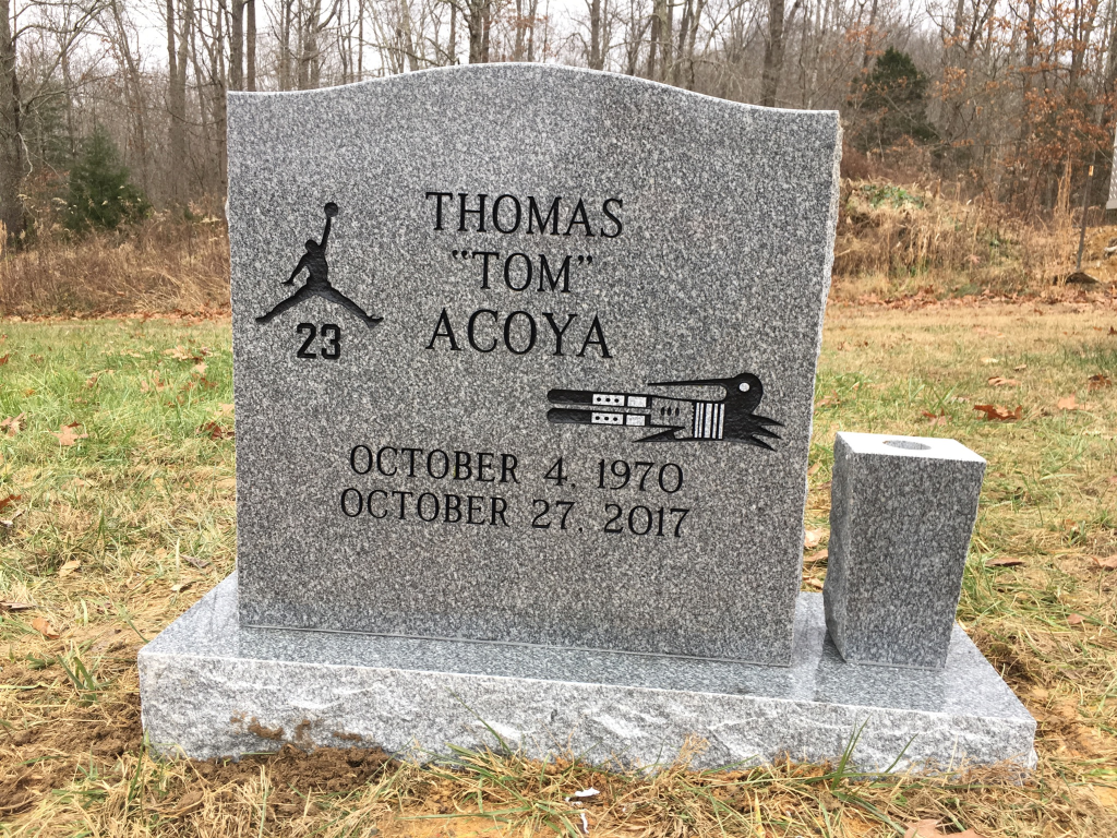 Headstone for Tom Acoya