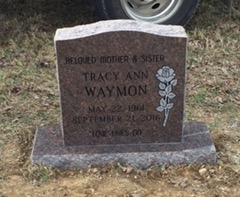 Headstone for Tracy Waymon