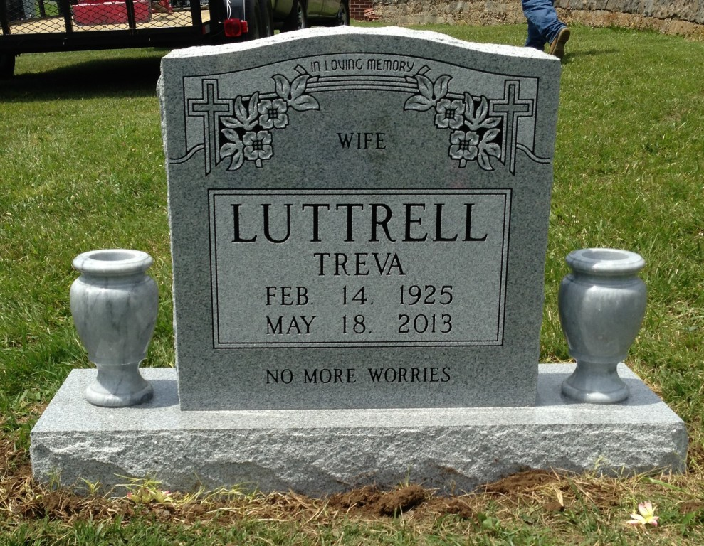 Headstone for Treva Luttrell