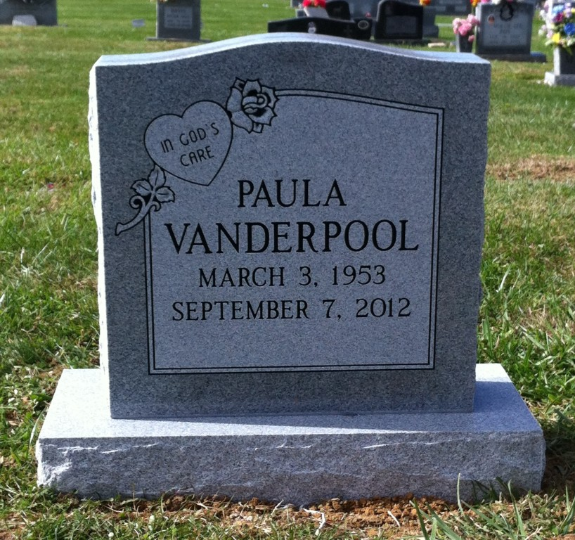 Headstone for Paula Vanderpool