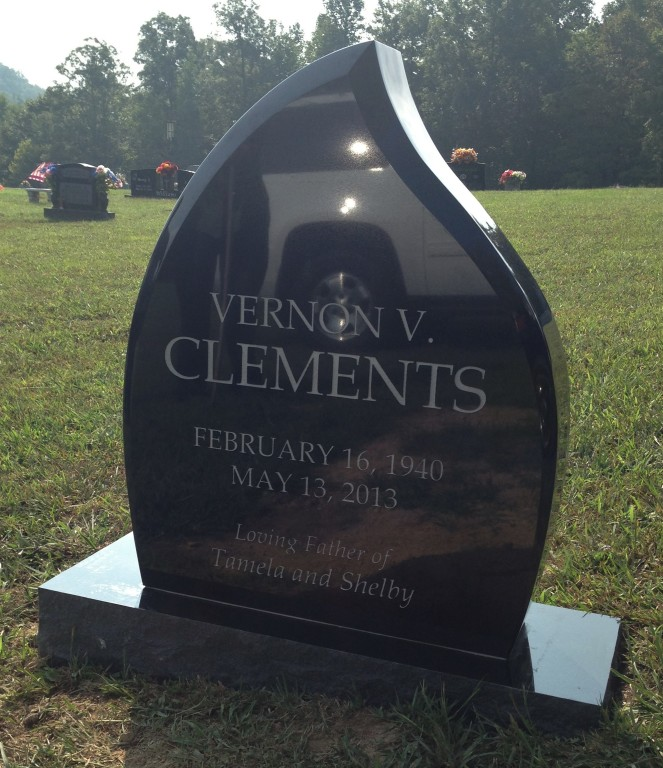 Headstone for Vernon Clements
