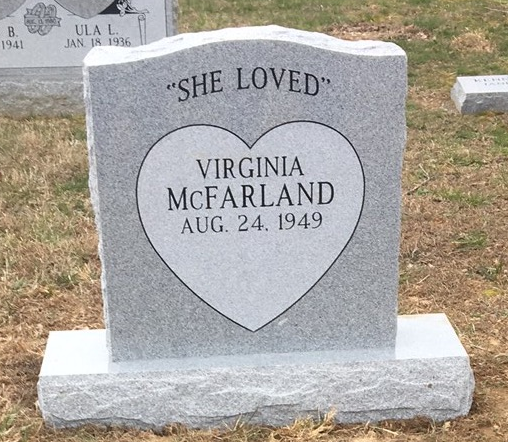 Headstone for Virginia McFarland