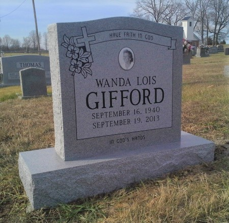 Headstone for Wanda Lois Gifford