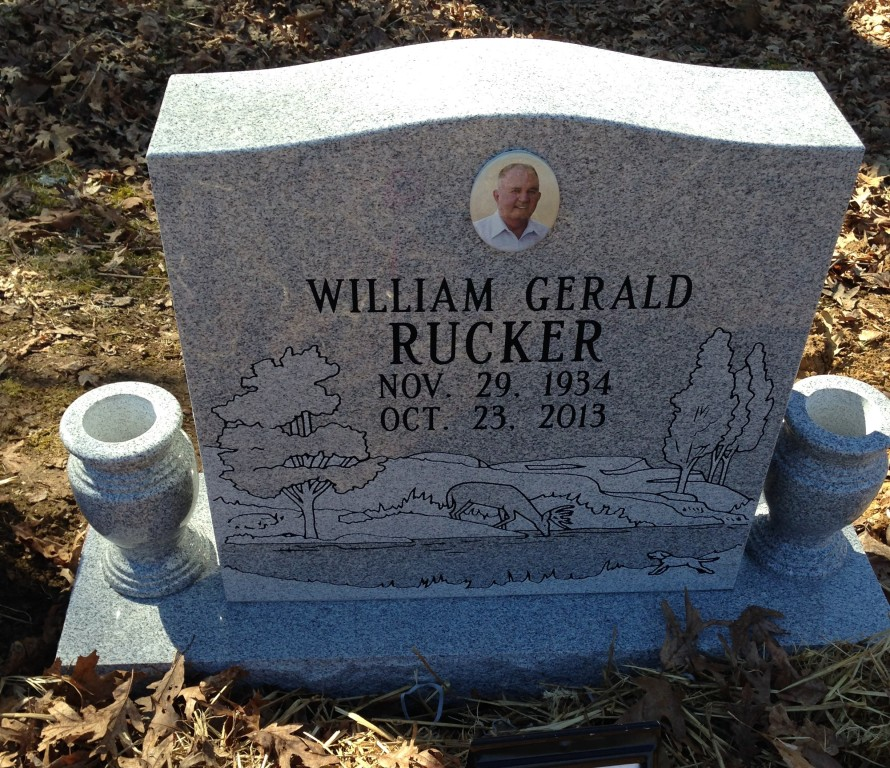 Headstone for William Gerald Rucker