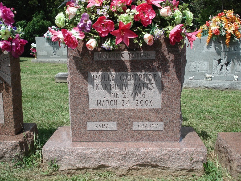 Headstone for Gertrude Kennedy Yates