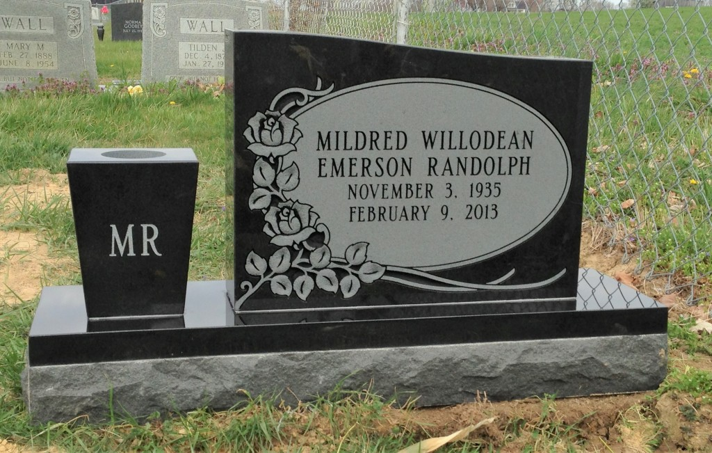 Headstone for Mildred Randolph