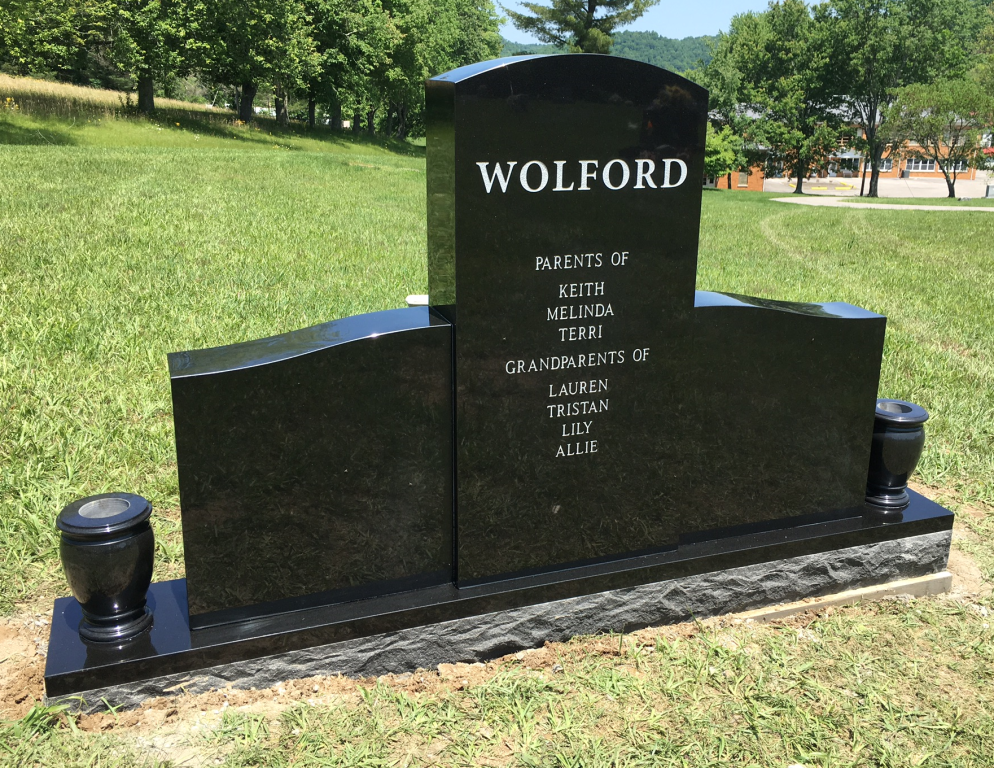 Back of Doug and Sandy Wolford headstone