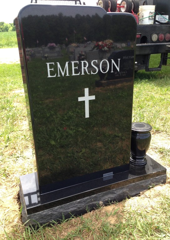 Back of Duke Emerson headstone