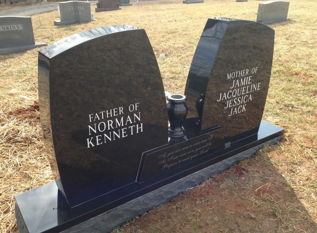 Back of Philip and Imogene Frederick headstone
