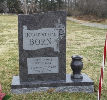 Front of Richard Born headstone