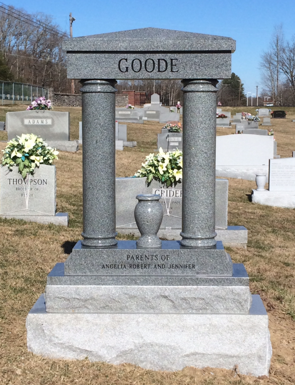 Back of Vallard and Brenda Goode headstone