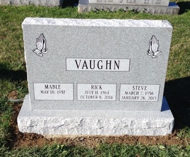 Vaughn triple headstone