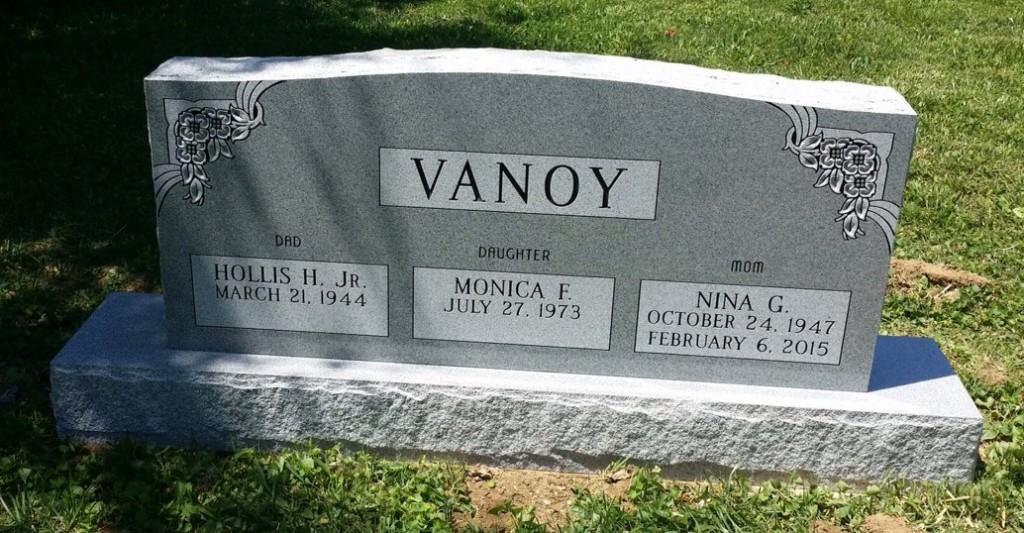 Vanoy triple headstone