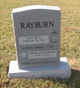 Headstone for Chester and Verna Rayburn