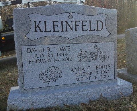Kleinfeld headstone