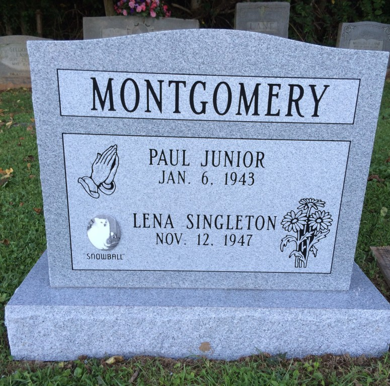 Paul and Lena Montgomery headstone