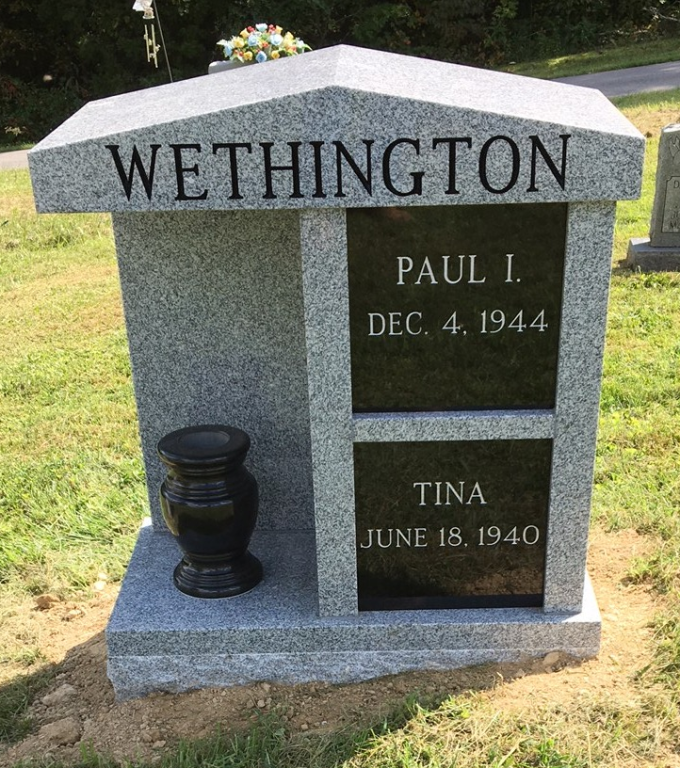 Paul and Tina Wethington columbarium