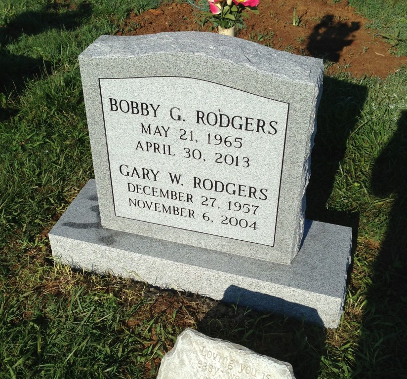 Bobby and Gary Rodgers headstone