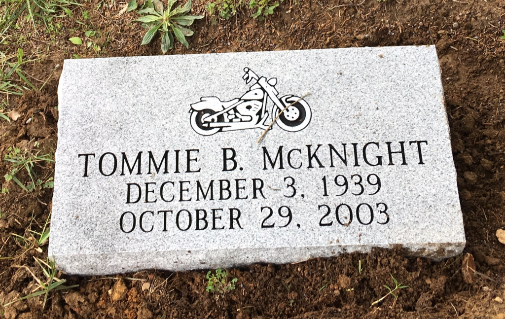 Bevel marker for Tommie McKnight