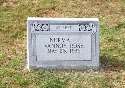 Slant marker for Norma Vannoy Rose