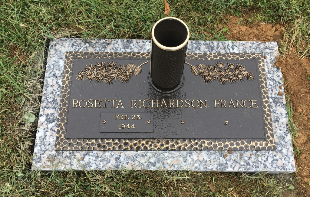 Rosetta Richardson France bronze marker