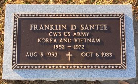 Franklin Santee bronze marker