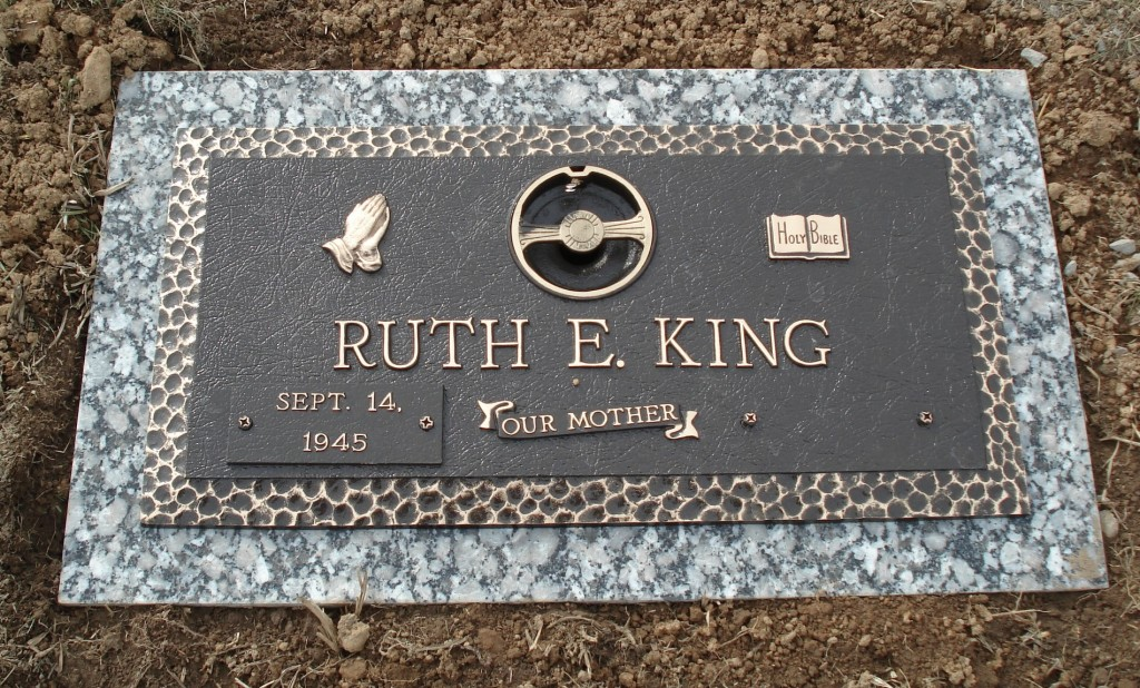 Ruth E. King bronze marker