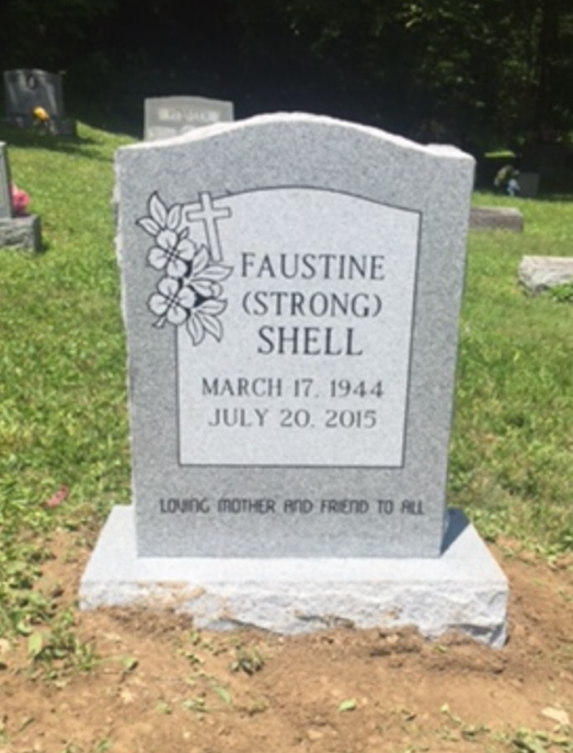 Headstone for Faustine Shell