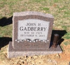 Headstone for John H. Gadberry