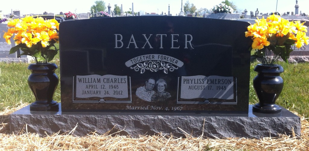 Headstone for Charles and Kay Baxter