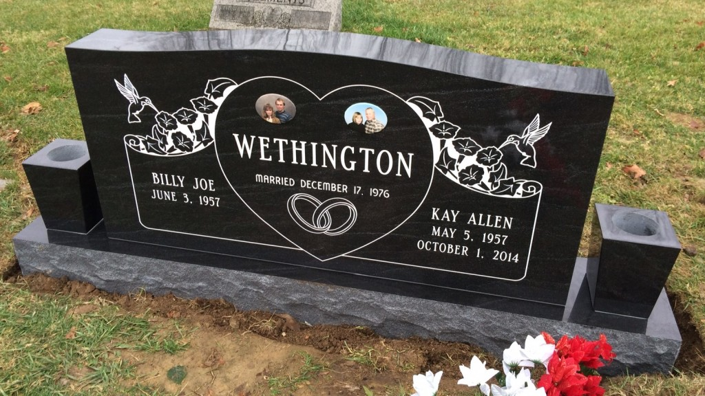 Headstone for Billy Joe and Kay Wethington