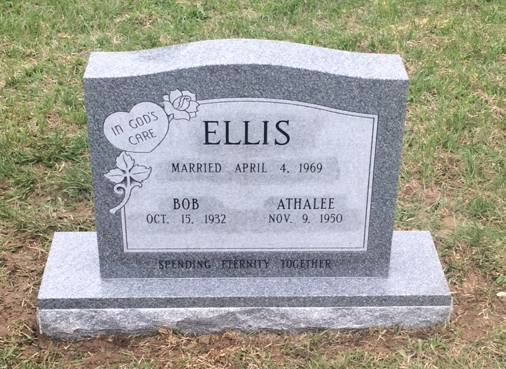 Bob and Athalee Ellis headstone