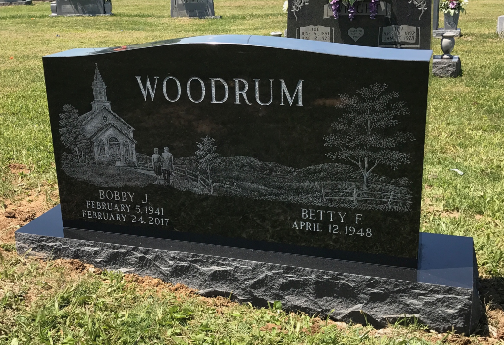 Headstone for Bobby and Betty Woodrum