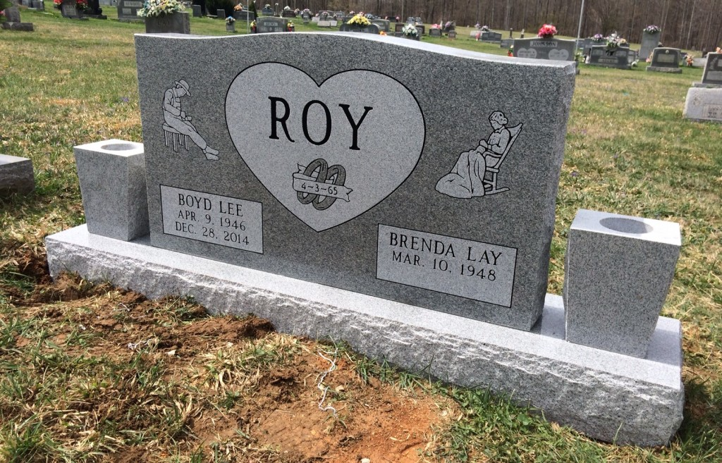 Headstone for Boyd and Brenda Roy