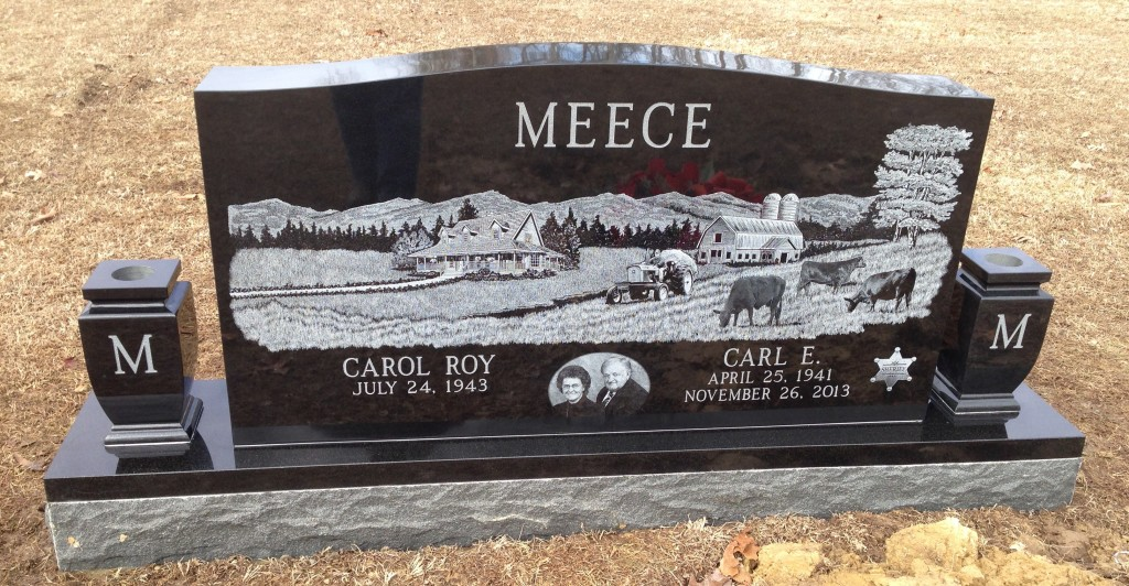 Headstone for Carl and Carol Meece